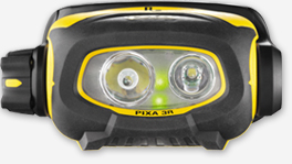 PIXA 3R rechageable headlamp.