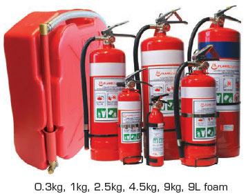 Fire Extinguishers & Rega Backpacks